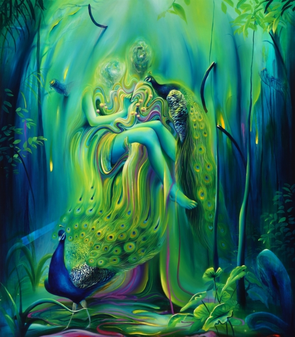 bursting colors swirl type paintings Michael Page